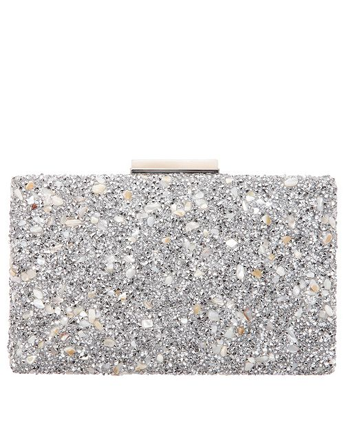 Nina Karley Shell Crystal Embellished Minaudiere