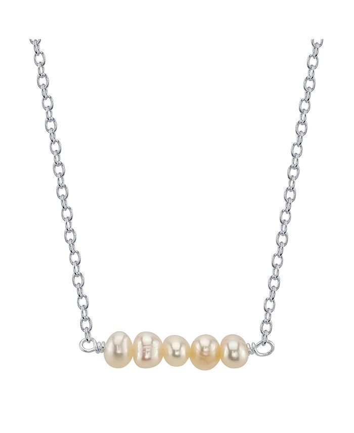 Unwritten - Fine Silver Plated Multiple Pearl Bead Necklace