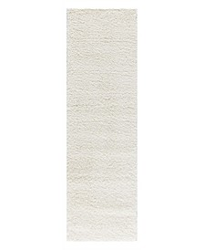 "Cali Shag CAL01 Ivory 2'6"" x 4' Area Rug"