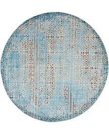 "Fate FAT01 Blue 5'3"" Round Area Rug"