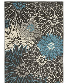 "Zeal ZEA17 Charcoal 3'9"" x 5'9"" Area Rug"