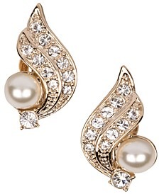 18k Gold Plated Crescent Clip On Earring