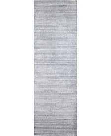 """Forge M144 Silver 2'6"""" x 8' Runner Rug"""