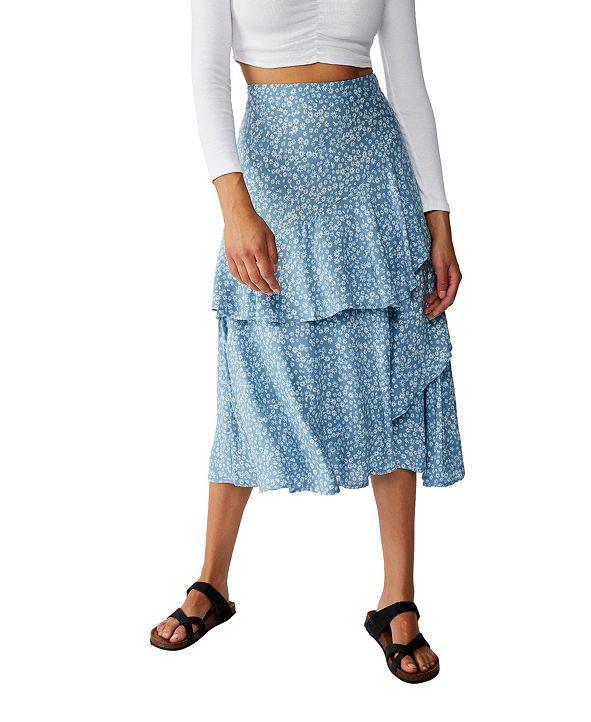 COTTON ON Eve Frill Midi Skirt
