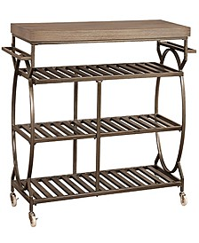 Paddock Metal Rolling Kitchen Cart