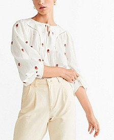 Embroidered Detail Blouse