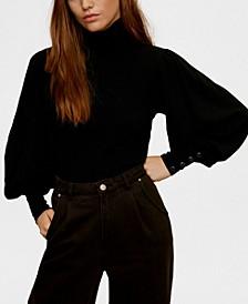 Buttoned Cuffs Sweater