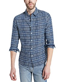 Men's Eric Linen Sea Graphic Shirt