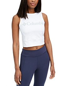 Women's Windgates Logo Cropped Sleeveless Top
