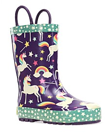 Toddler's and Little Girl's Unicorn Dreams Rain Boot