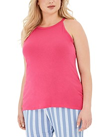 Trendy Plus Size Halter Tank Top
