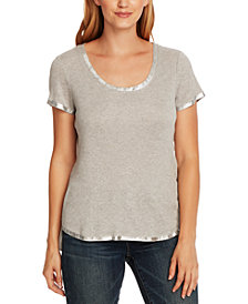 Vince Camuto Metallic-Trim Top