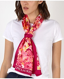 Aria Floral Silk Oblong Scarf