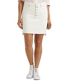 Mid-rise Denim Mini Skirt