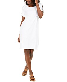 Cotton Cutout-Sleeve Dress, Created for Macy's