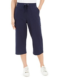 Petite French Terry Cargo Capri Pants, Created for Macy's