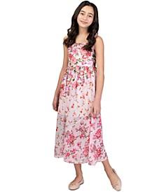Big Girls Floral Chiffon Maxi Dress