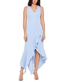 Handkerchief-Hem Ruffled Gown