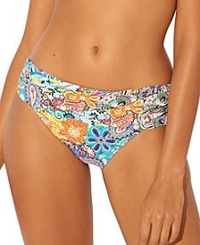 Printed Sarong Hipster Bikini Bottoms