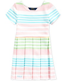 Toddler Girls Striped Ottoman-Rib Dress