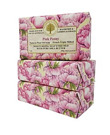 Pink Peony Soap with Pack of 3, Each 7 oz