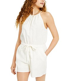 Juniors' Halter-Neck Romper