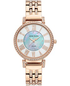 Women's Considered Solar-Powered Rose Gold-Tone Bracelet Watch 34mm
