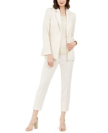 Blazer, Metallic-Trim Top & Dress Pants