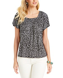 Printed Square-Neck Top, Created for Macy's