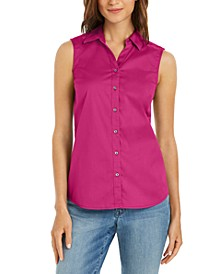 Button-Front Top, Created for Macy's