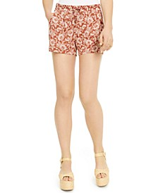 Juniors' Floral-Printed Shorts