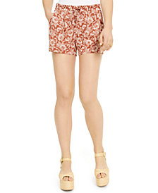 Be Bop Juniors' Floral-Printed Shorts