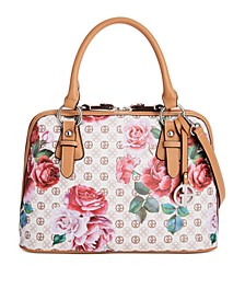 Signature Peonies Dome Satchel, Created for Macy's