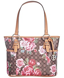 Signature Peonies Tote, Created for Macy's