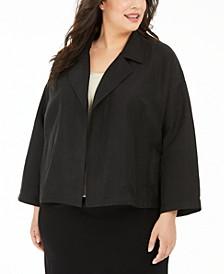 Plus Size Organic Drape-Front Jacket
