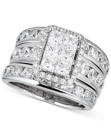 Diamond Princess 3-Pc. Bridal Set (4 ct. t.w.) in 14k White Gold