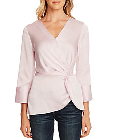 Vince Camuto Side-Twist Split-Cuff Top