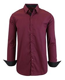 Men's Long Sleeve Stretch Dress Shirts