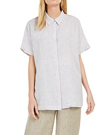 Organic Linen Short-Sleeve Shirt