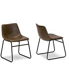 Set of 2 Adan Iron Frame Dining Chair