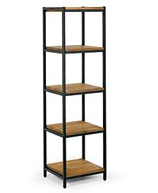 "Ailis 57"" Pine Wood Shelf Etagere Bookcase Media Center with Metal Frame"