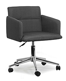 Aila Fabric Swivel Office Chair with Wheel Base
