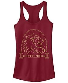 Harry Potter Gryffindor Brave At Heart Lion Line Art Women's Racerback Tank
