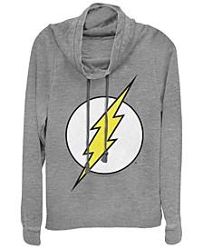 DC The Flash Classic Lightning Bolt Logo Cowl Neck Women's Pullover Fleece