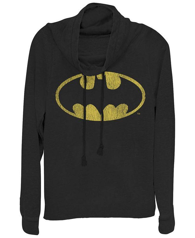 Fifth Sun DC Batman Classic Oval Logo Cowl Neck Women's Pullover Fleece
