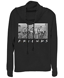 Friends City Skyline Group Portrait Cowl Neck Women's Pullover Fleece