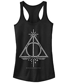 Harry Potter Deathly Hallows Line Sketch Women's Racerback Tank