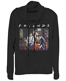 Friends Central Perk Couch Group Portrait Cowl Neck Women's Pullover Fleece