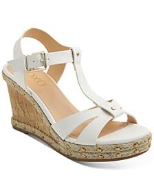 Isla T-Strap Espadrille Wedge Sandals