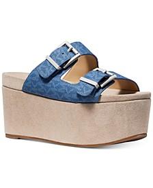 Delilah Platform Slide Sandals